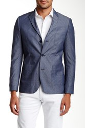 Howe Hammer Three Button Notch Lapel Sport Coat Blue