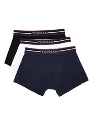 Topman Assorted Colours Stripe Waistband Trunks 3 Pack Multi
