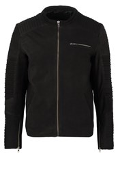 Jack And Jones Jcoleather Leather Jacket Black