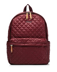 M Z Wallace Mz The Metro Backpack Maroon Oxford