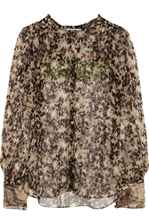 Givenchy Silk Chiffon Blouse With Turtle Print
