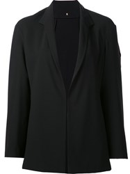 Peter Cohen Collarless Open Front Blazer Black