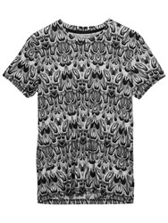 J. Lindeberg Sev Feathers Crew Neck Jersey T Shirt White