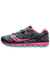 Saucony Trail Running Shoes Grey Pink Teal