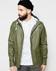 Barbour Parka In Rubber Slim Fit Olive Green