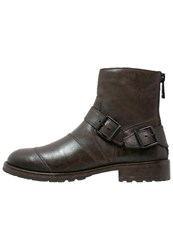 Belstaff Trialmaster Cowboy Biker Boots Black Brown Dark Brown