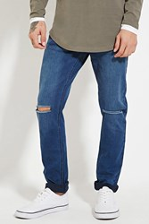 Forever 21 Ripped Skinny Jeans Denim Washed