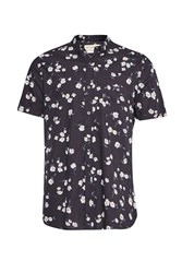 French Connection Fats Floral Short Sleeved Shirt Black