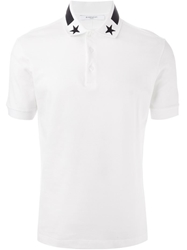 Givenchy Military Insignia Polo Shirt White