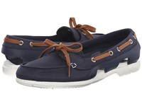 Crocs Beach Line Hybrid Boat Shoe Navy White Women's Shoes Blue