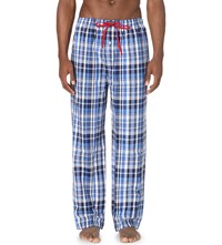 Ralph Lauren James Checked Cotton Pyjama Bottoms Blue Multi