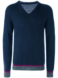 Roberto Collina V Neck Jumper Grey