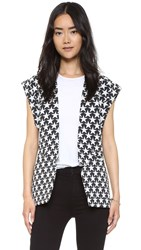 Sass And Bide Gemeni Dunes Vest Black Ivory