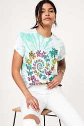 Urban Outfitters Grateful Dead Tie Dye Bear Tee Green