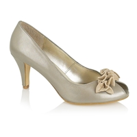Lotus Flamenca Court Shoes Gold