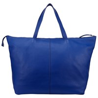 John Lewis Morgan Leather Tote Bag Blue