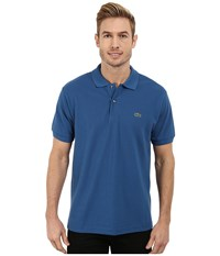 Lacoste L1212 Classic Pique Polo Shirt Officer Blue Men's Short Sleeve Knit