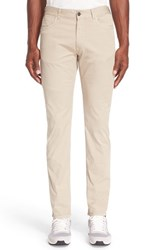 Canali Men's Five Pocket Stretch Twill Pants Tan