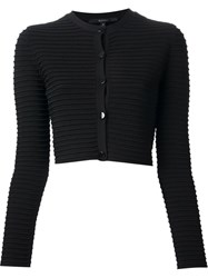 Gucci Ribbed Cardigan Black