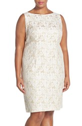 Plus Size Women's Chetta B Lace Sheath Dress