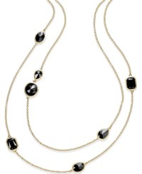 Charter Club Gold Tone Black Stone Two Layer Necklace Only At Macy's