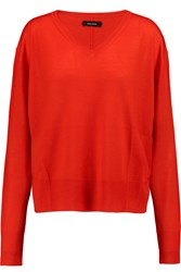 Isabel Marant Billy Cashmere And Silk Blend Sweater Red