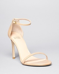 Stuart Weitzman Ankle Strap Sandals Nudistsong High Heel Patent Adobe