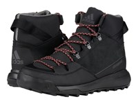 Adidas Cw Winterpitch Mid Cp Leather Black Scarlet Charcoal Solid Grey Men's Hiking Boots