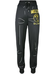 Moschino Trompe L'oeil Logo Trackpants Grey
