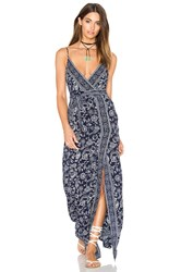 Paige Regina Maxi Dress Navy