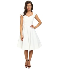 Stop Staring Madstyle Classic Swing Skirt Dress Ivory Women's Dress White