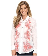 Stetson White Voile Long Sleeve Woven Shirt White Women's Clothing