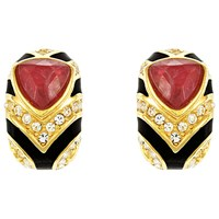 Eclectica Vintage 1980S Dior Gold Plated Faux Ruby Earring Ruby Multi