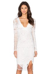 Lavish Alice Embroidered Mini Dress White