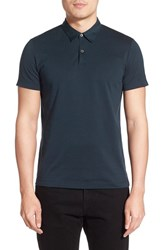 Men's Theory 'Bron' Trim Fit Silk And Cotton Polo