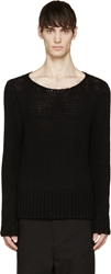 Yang Li Black Soft Knit Sweater