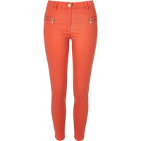 River Island Womens Red Twill Skinny Trousers