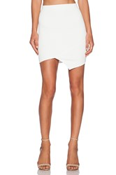 Donna Mizani Quilted Cross Over Mini Skirt White