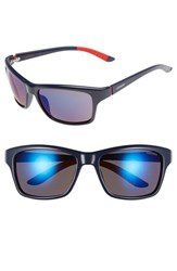 Men's Carrera Eyewear 58Mm Polarized Sunglasses Blue Grey Blue Mirror