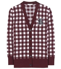 Christopher Kane Wool And Cashmere Cardigan Red
