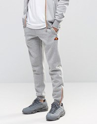 Ellesse Skinny Joggers With Zips Grey