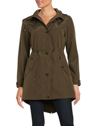 Gallery Anorak Faux Fur Lined Coat British Khaki