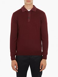 Editions Mr Maroon Wool Polo Shirt