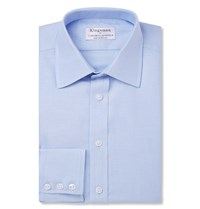 Kingsman Turnbull And Asser Blue Cotton Royal Oxford Shirt Blue
