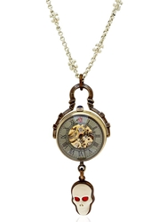 Cantini Mc Firenze White Skull Necklace Bronze