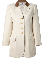 Hermes Vintage Single Breasted Jacket Nude And Neutrals