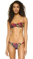 Milly Palm Print Maxime Bikini Top Navy Multi