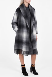 Alexander Wang Oversized Shawl Collar Coat Multi