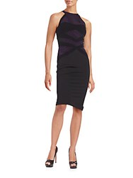 Lucinda Sheath Dress Dark Purple Black