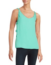 Kobi Halperin Braided Silk Tank Top Palm Green